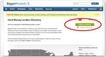 Hard money lender business plan